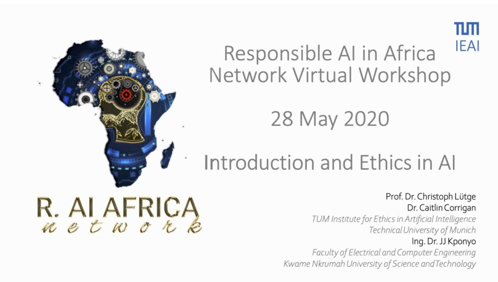 RAIN-Africa: Slides from Ethics and AI workshop on 28 May 2020